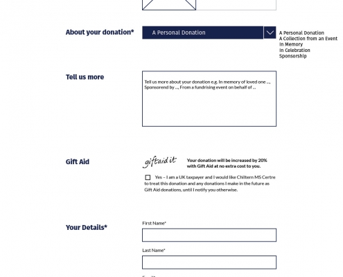 donation page design