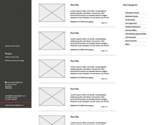 web design wireframe design