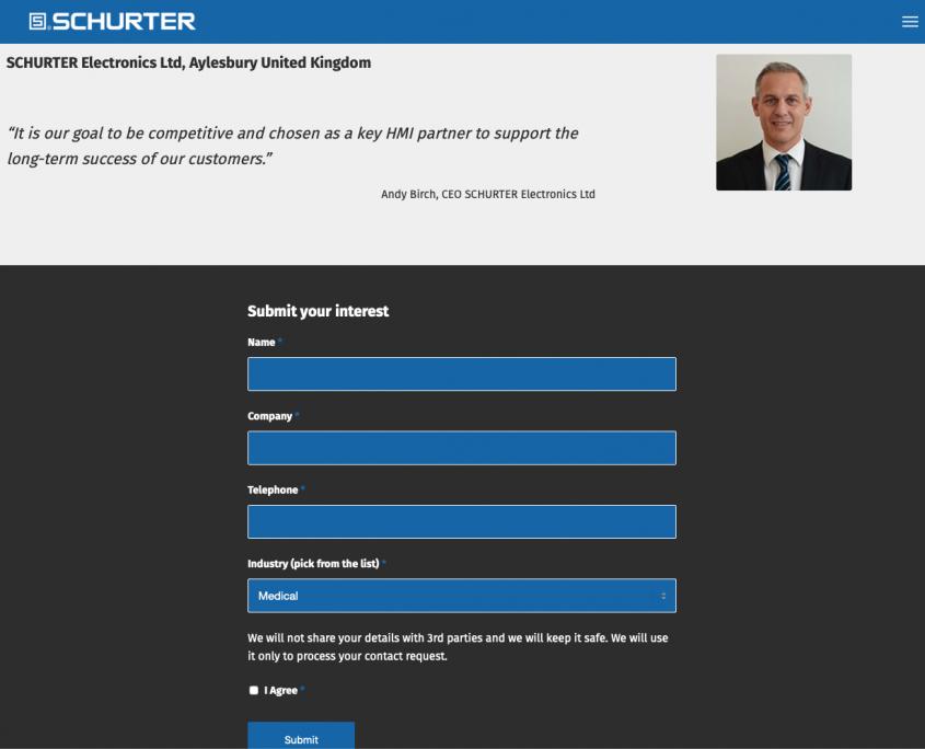 schurter website design